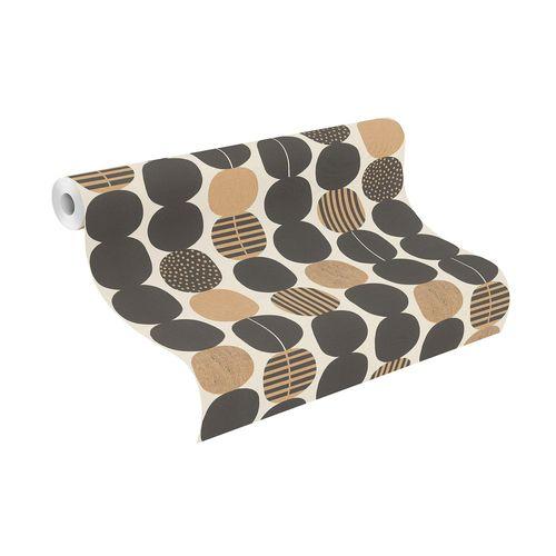 Non-Woven Wallpaper Rasch Graphic black gold 539738