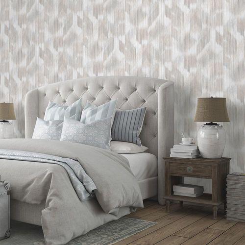 Artikelbild Vliestapete Streifen Batik taupe weiß 10248-11