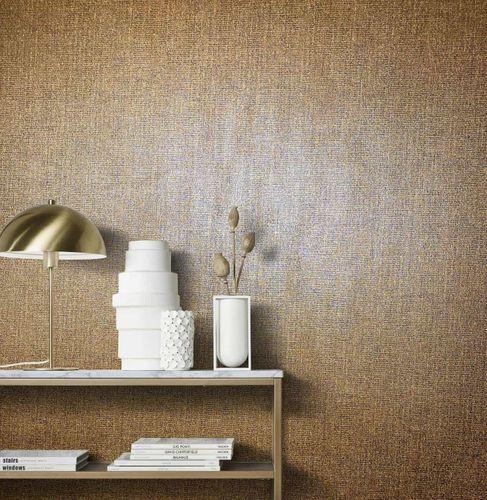 Artikelbild Vliestapete Textil Meliert kupfer Metallic 85737