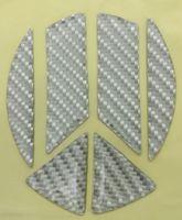 Carbon-Optik Dekor Ecken Inlays Emblem Silber Passend Für Golf 6 Passat 3C Polo 6R