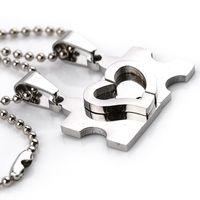 Partner Halsketten Set Freundschaftsketten Partnerketten - Puzzle Herz Herzkette