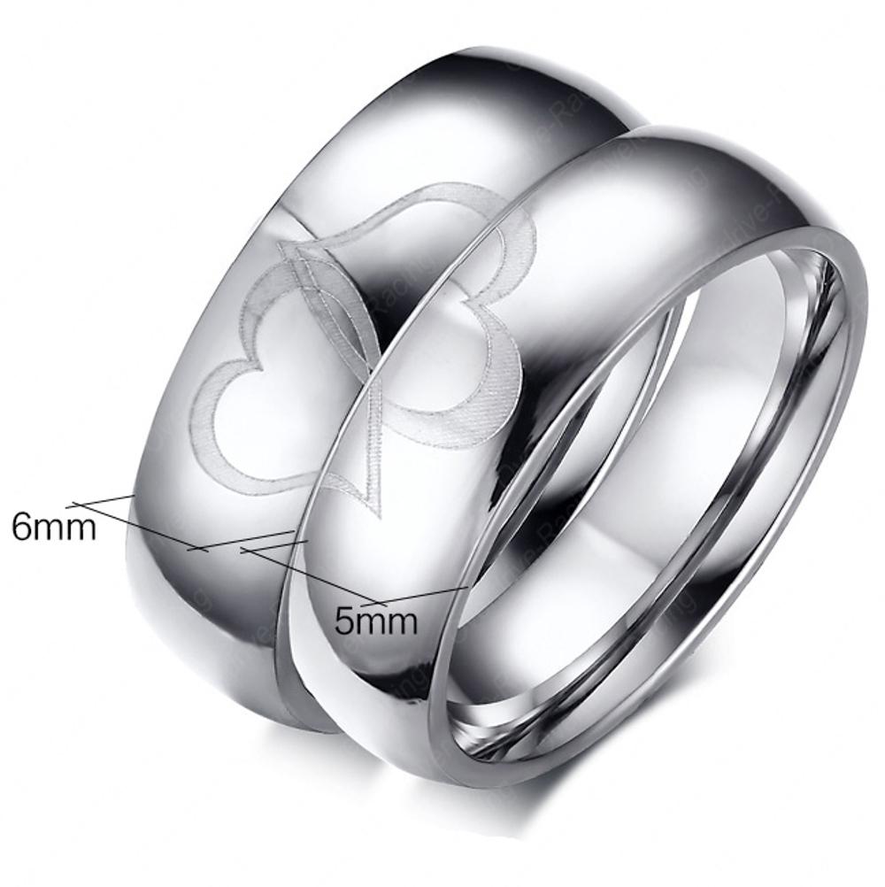 Verlobungsring  Partnerring  Freundschaftsring  Eheringe Trauring Edelstahl Ring