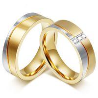 Partnerringe Freundschaftsringe - Chirurgischer Edelstahl - Verlobungsringe Eheringe Hochzeitsringe Trauringe - Modell 80518