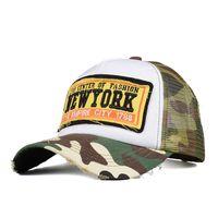 Baseball Cap  New York  Camouflage Basecap Mütze Baseballcap Kappe Unisex Vintage Mesh Trucker