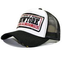 Baseball Cap  New York  Schwarz Basecap Mütze Baseballcap Kappe Unisex Vintage Mesh Trucker