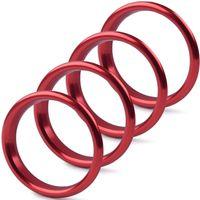 Overdrive-Racing 4x Lüftungsringe Blenden Alu Rot A3 S3 Q2 Lüftungsdüsen Zierringe Ringe Abdeckung