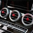 Overdrive-Racing 5x Lüftungsregler Blenden Alu Rot Mittelknöpfe Knopf Lüftungsdüse Passend Für C-Klasse W205 GLC X253