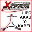 Lipo Akku Y-Kabel (Reihenschaltung) Dean Style - T-Stecker