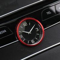 Overdrive-Racing Zierring Uhr Blende Uhrrahmen Zierrahmen Alu Abdeckung Rot Passend Für C-Klasse W205 A2138271400