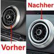 Overdrive-Racing 8x Lüftungsringe Innen Außen Blenden Alu Silber Lüftungsdüsen Ringe Abdeckung Passend Für A3 S3 RS3 Q2