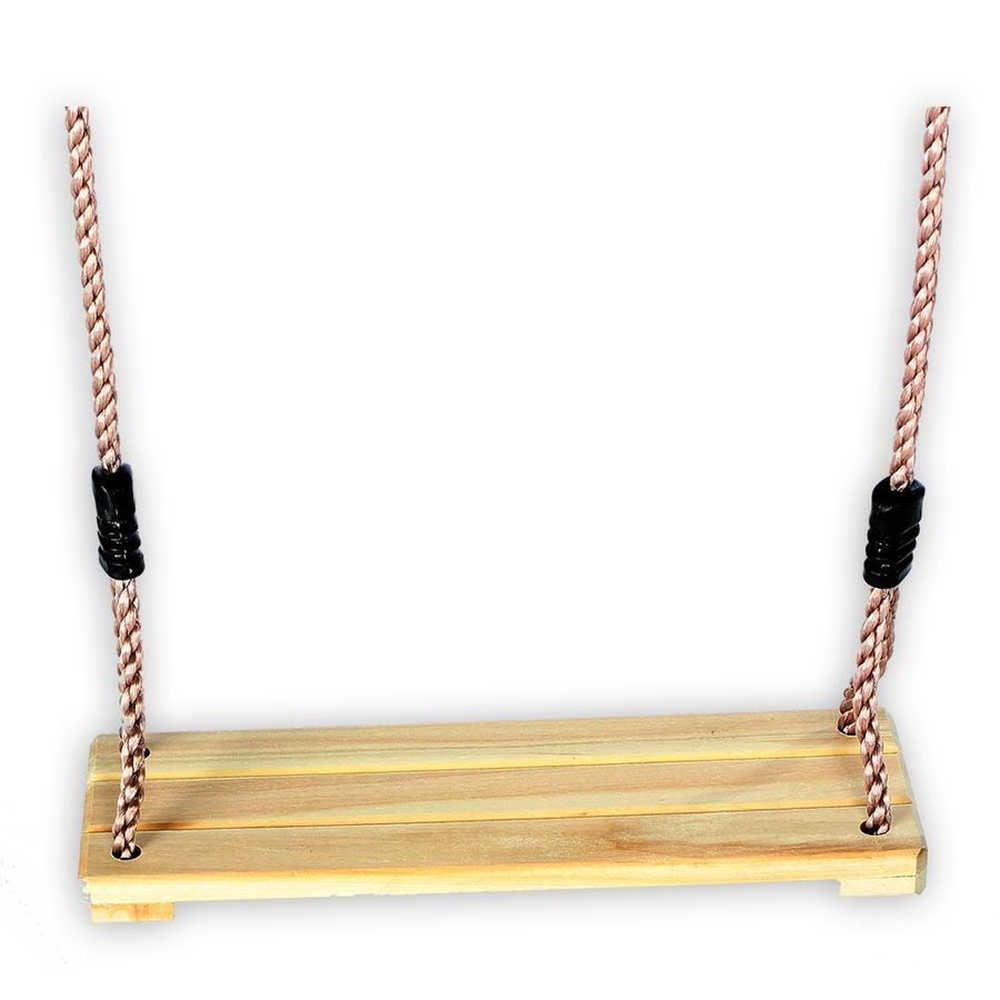 Schaukelbrett Hartholz mit Seil 10 mm