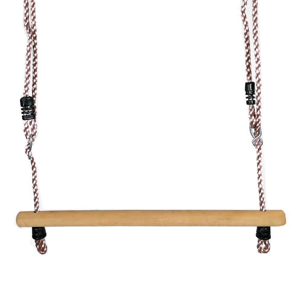 Trapez aus Holz mit Seil
