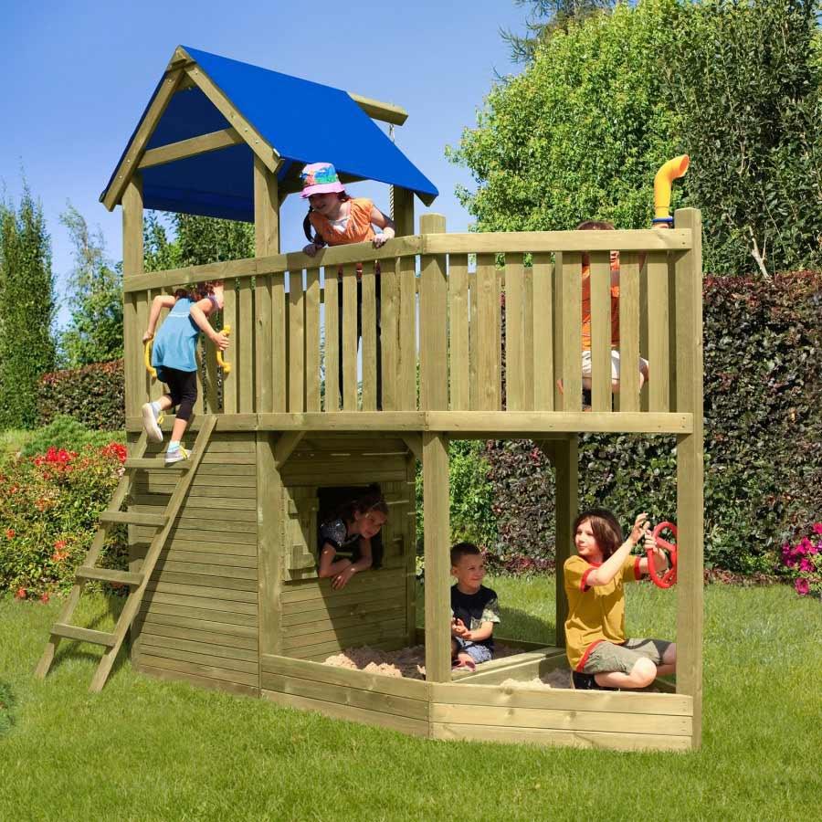 Spielturm Piratenschiff Spielhaus aus Holz