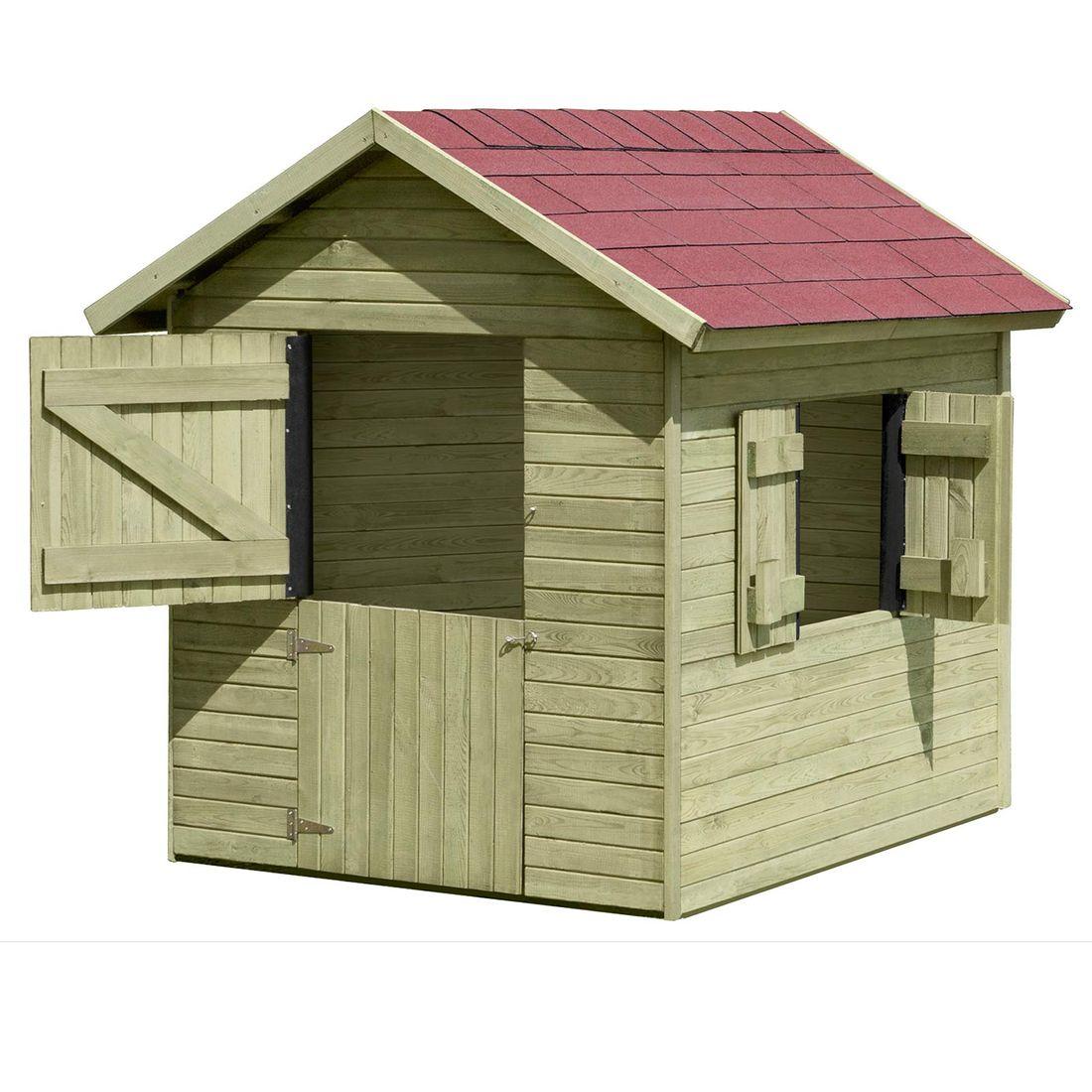 kinder-spielhaus marie aus holz gartenhaus für kinder