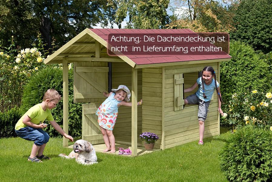 spielhaus gartenhaus louis holz kdi 207 x 120 cm f r. Black Bedroom Furniture Sets. Home Design Ideas