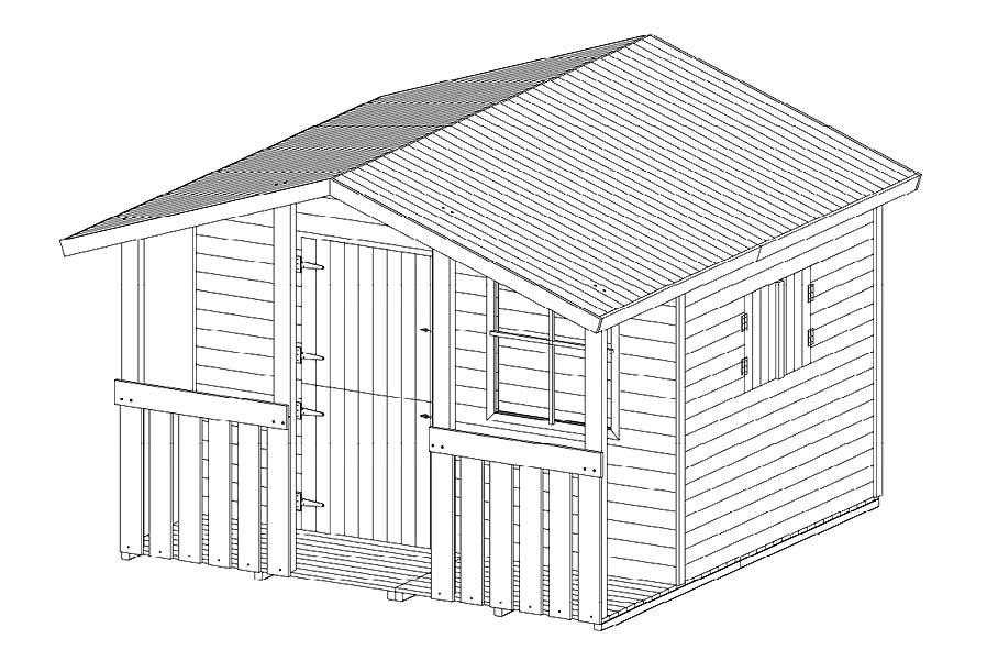 spielhaus holz selber bauen kosten. Black Bedroom Furniture Sets. Home Design Ideas