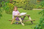 Kinderpicknicktisch aus Holz