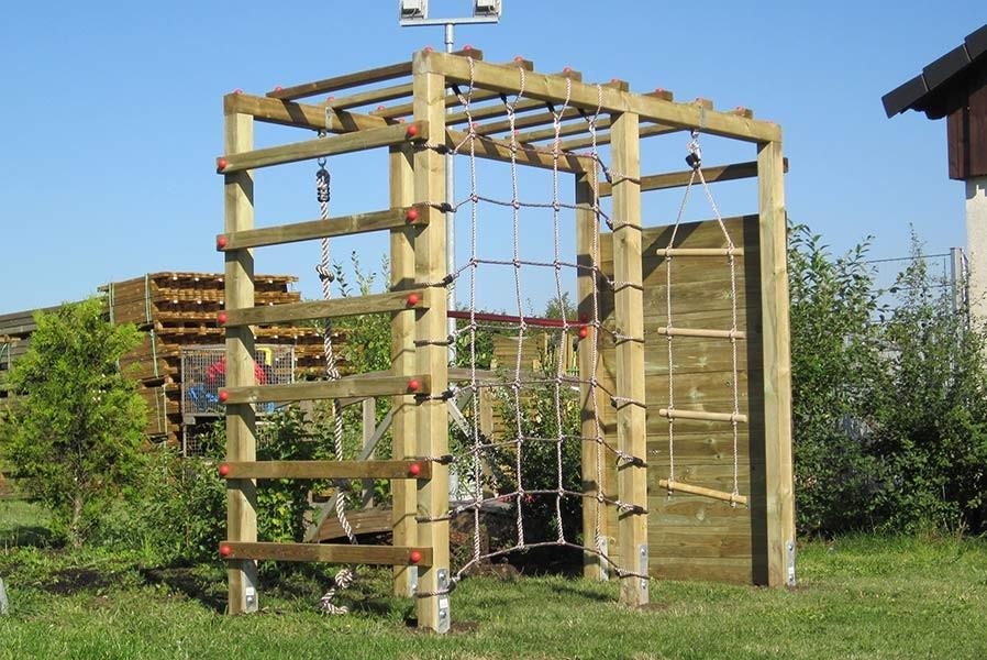 Klettergerüst Holz Selber Bauen : Kinder klettergerüst holz premium mit kletterwand kletternetz