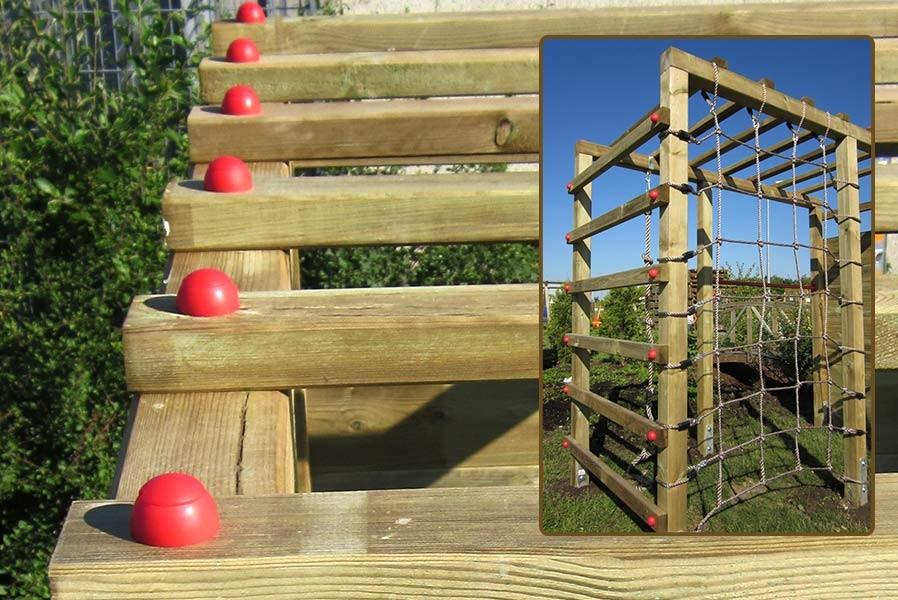 Kinder Klettergerüst Holz Premium mit Kletterwand