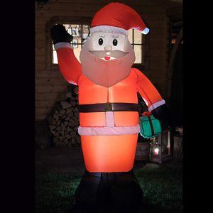 Weihnachtsmann Höhe 180 cm mit Gebläse und Beleuchtung