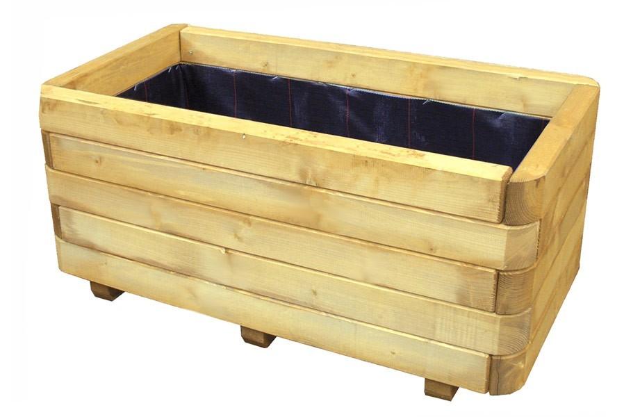 pflanzkasten blumenkasten rechteckig holz 90 x 45 x 40 cm bxtxh von gartenpirat de. Black Bedroom Furniture Sets. Home Design Ideas