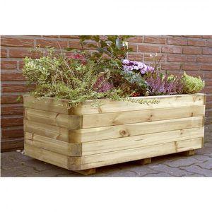 Pflanzkasten rechteckig Holz 120 x 60 x 40 cm