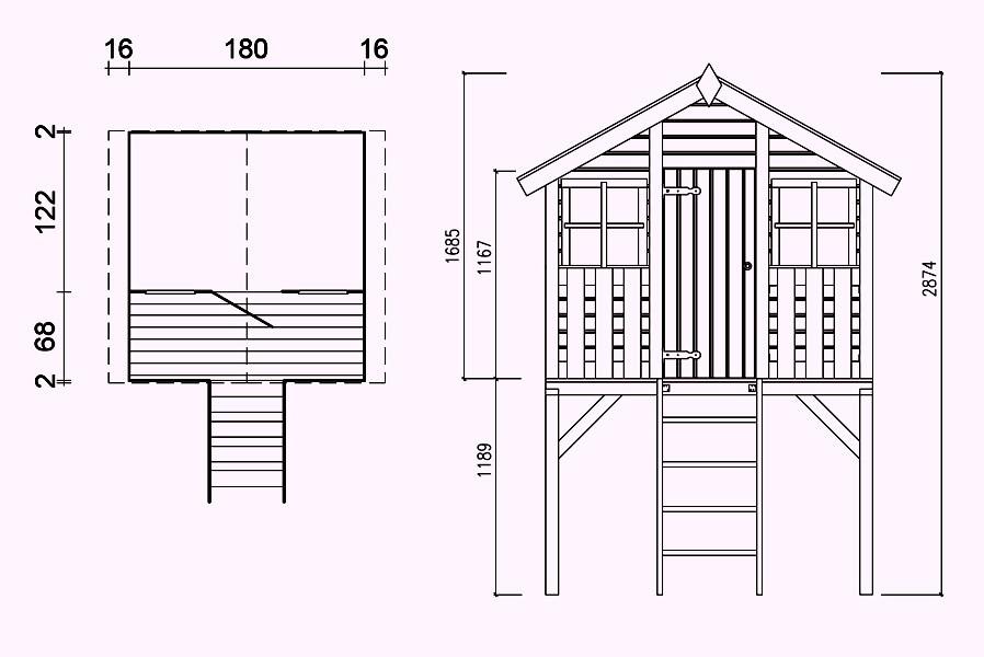 spielhaus holz selber bauen u spielhaus spielhaus selber. Black Bedroom Furniture Sets. Home Design Ideas