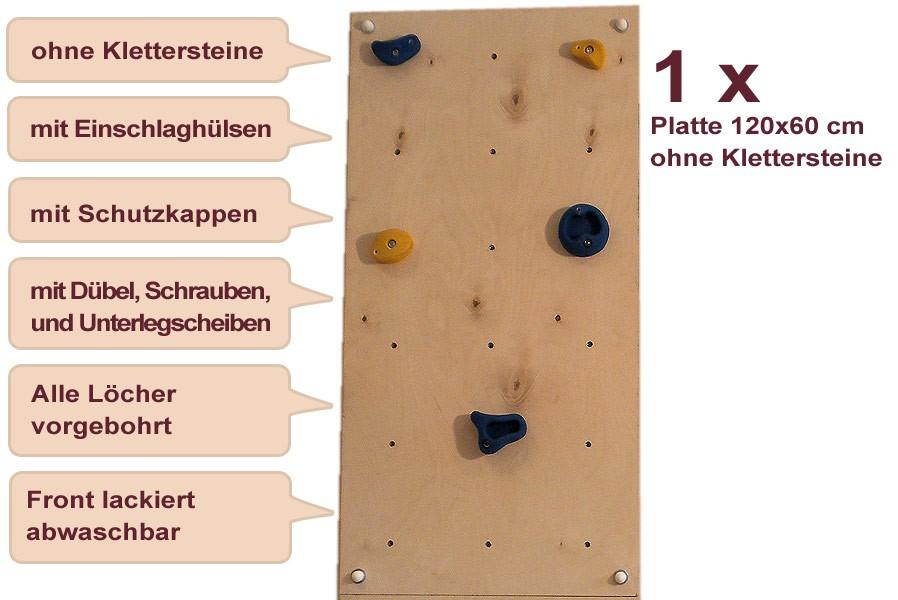 Wandplatte 120x60 cm für Indoor-Kletterwand mit ...