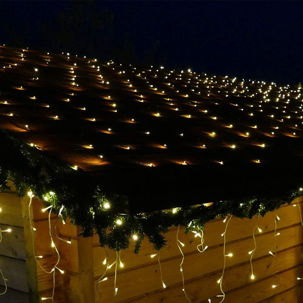LED Lichternetz 3x3 für die Weihnachtsbeleuchtung außen