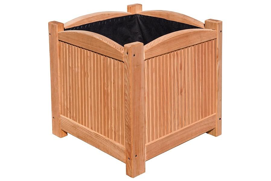 pflanzkasten 4 eckig aus l rchen holz 51x51x51 cm. Black Bedroom Furniture Sets. Home Design Ideas