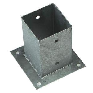 Aufschraubhülsen für Pfosten 7x7 cm mit Bodenplatte