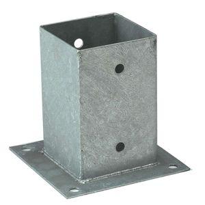 Aufschraubhülsen für Pfosten 9x9 cm mit Bodenplatte