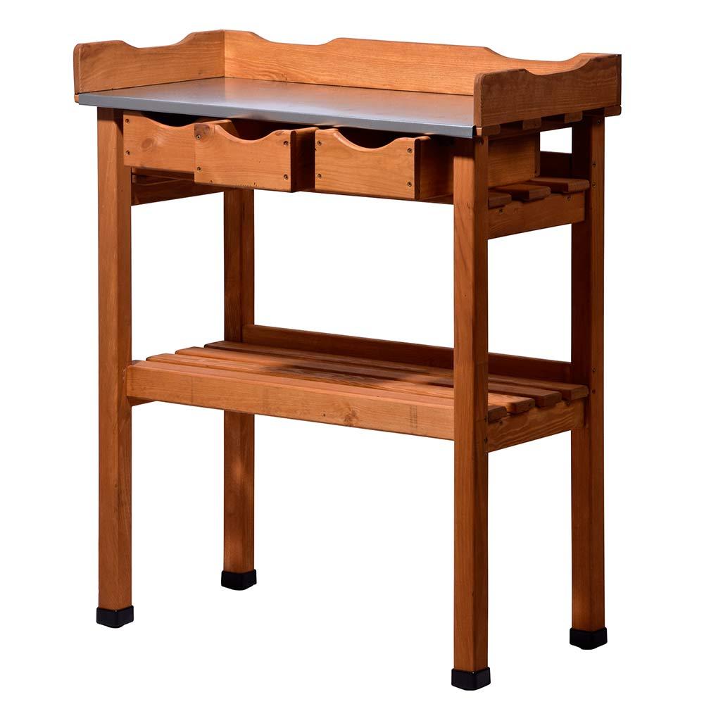 pflanztisch mit schubladen und abstellfl che blumentisch g rtnertisch aus holz. Black Bedroom Furniture Sets. Home Design Ideas