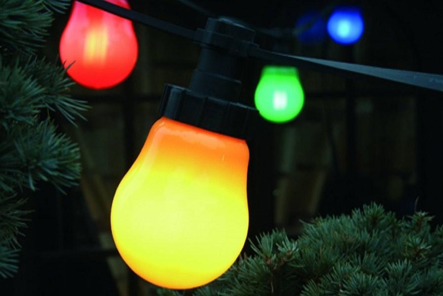 lichterkette lampions mit e27 energiesparlampen garten au en. Black Bedroom Furniture Sets. Home Design Ideas