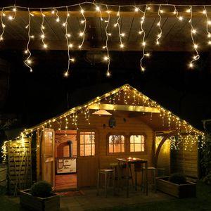 Eisregen-Lichterkette 240 LED warmweiß Länge 6 Meter
