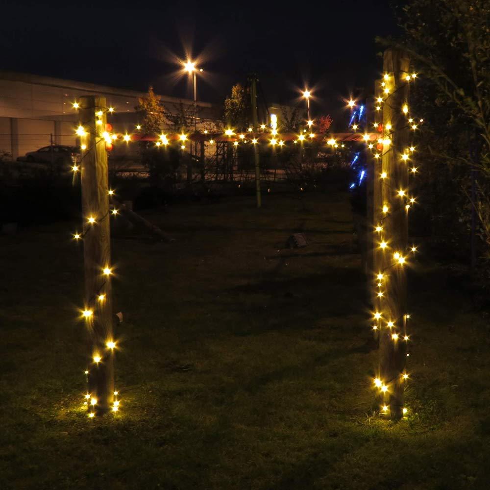 100 Led Lichterkette 10 M Warmweiß Für Innen Und Außen Party