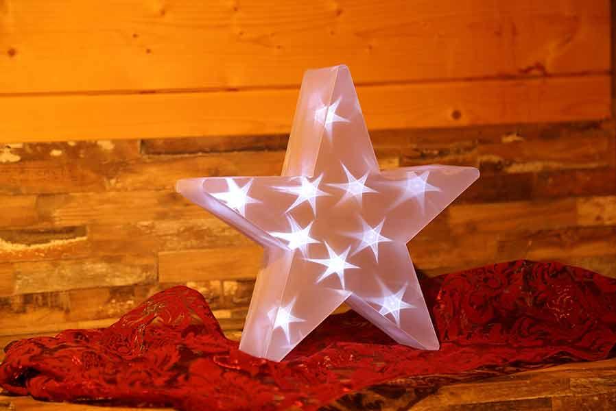 3d Weihnachtsbeleuchtung.Stern Weihnachten In 3d Optik Deko Folienfigur Mit Led Beleuchtet