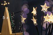 LED-Sternenleuchtstäbe für innen und außen