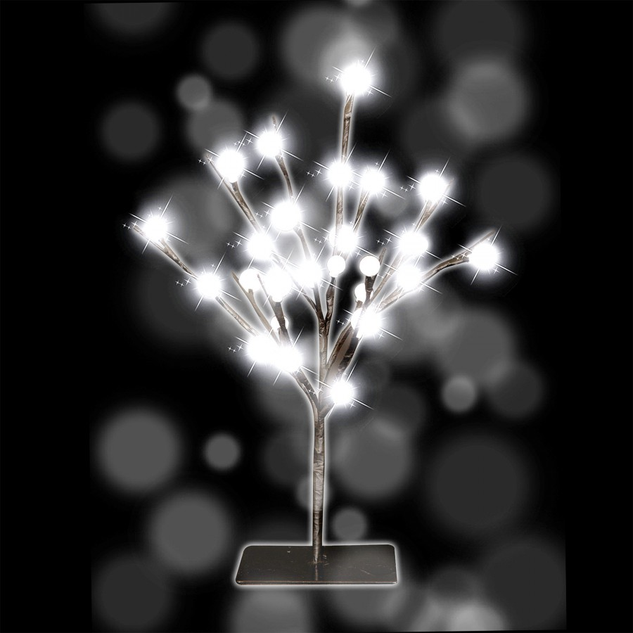 lichter baum dekoration 40 cm 25 led weihnachten mit beleuchtung f r innen au en ebay. Black Bedroom Furniture Sets. Home Design Ideas