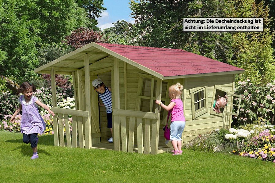 kinder spielhaus lisa fun aus holz gartenhaus holzhaus von gartenpirat. Black Bedroom Furniture Sets. Home Design Ideas