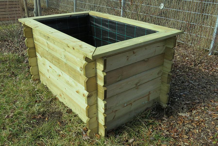 Hochbeet 150x100x82 Cm Aus Holz Impragniert Ohne Boden Pflanzkasten