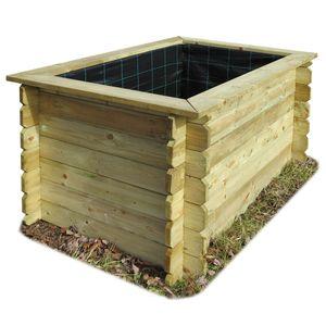 Hochbeet 150x100x82 cm aus Holz imprägniert