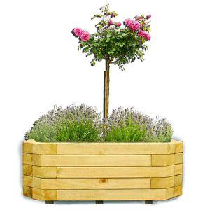 Wandpflanzkasten 100x40x35 cm aus Holz imprägniert