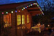 Partylichterkette mit Kugel Birnen als Beleuchtung innen und außen