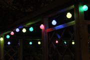 Lichterkette mit bunten Birnen