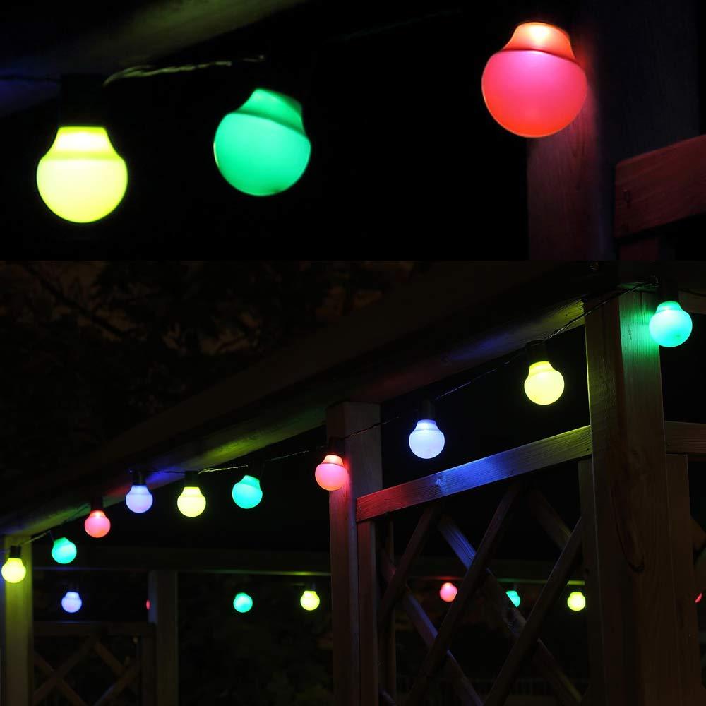 LED Partylichterkette Lichterkette bunt 25 Lampen Gartenbeleuchtung