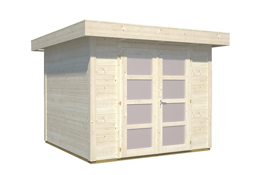 gartenhaus lara 6 0 m mit flachdach 250 x 250 cm. Black Bedroom Furniture Sets. Home Design Ideas