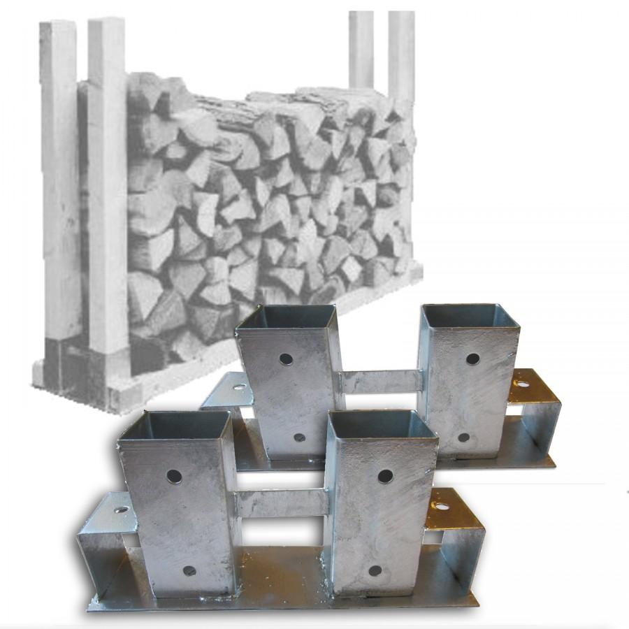 2er Set Verbinder aus Metall verzinkt