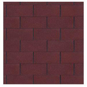 Bitumen Dachschindeln Farbe rot 3 m²