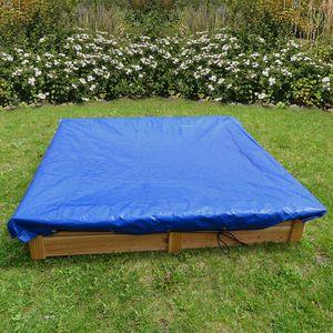 Abdeckplane blau für Sandkasten 150 x 150 cm